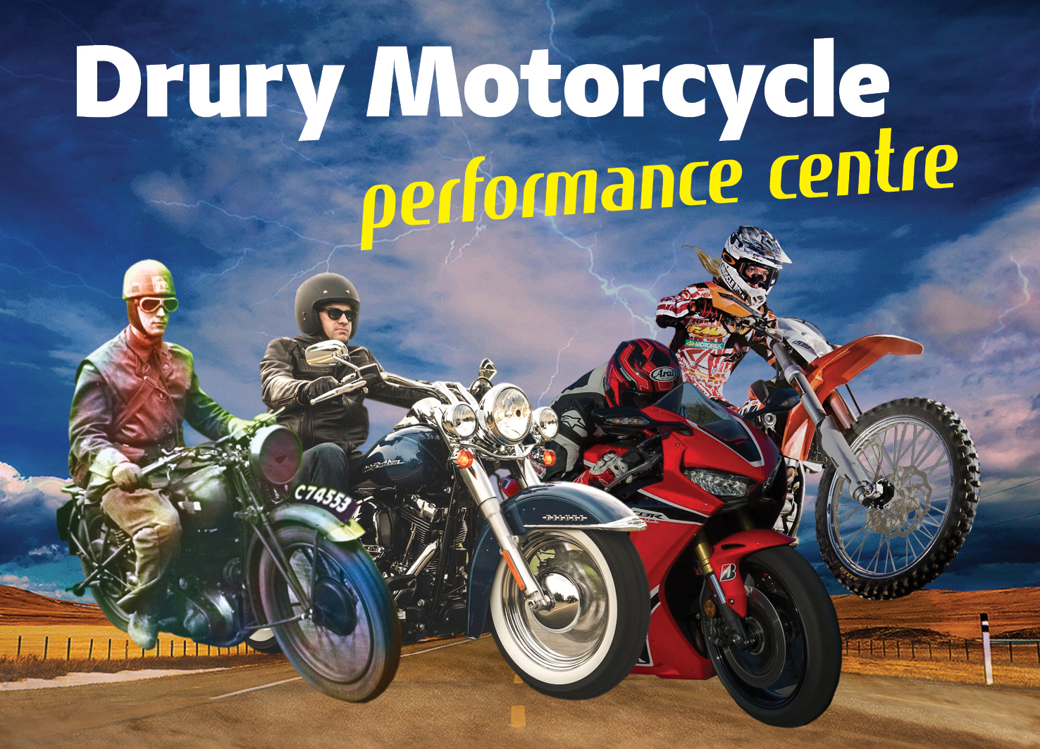 Drury Motorcycle Performance Centre for all your motorbike requirements
