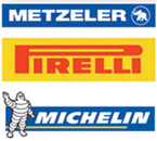 All brands of Motorbike tyres